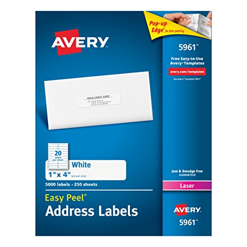 Avery-Easy-Peel-1-x-4-Inch-White-Mailing-Labels-5000-Count-5961-0