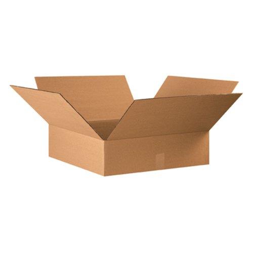Aviditi-22226-Flat-Corrugated-Box-22-Length-x-22-Width-x-6-Height-Kraft-Bundle-of-15-0