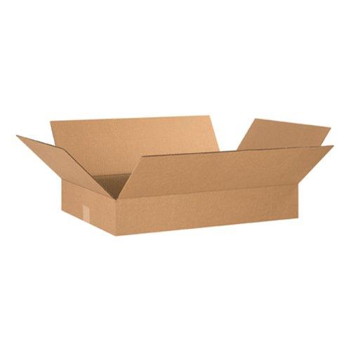 Aviditi-24164-Flat-Corrugated-Box-24-Length-x-16-Width-x-4-Height-Kraft-Bundle-of-25-0