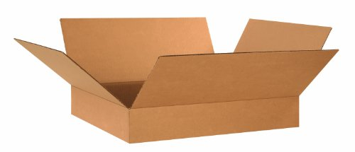 Aviditi-24204-Flat-Corrugated-Box-24-Length-x-20-Width-x-4-Height-Kraft-Bundle-of-20-0