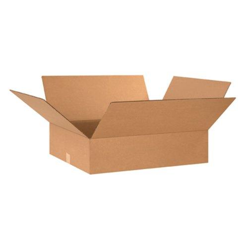 Aviditi-24248-Flat-Corrugated-Box-24-Length-x-24-Width-x-8-Height-Kraft-Bundle-of-10-0