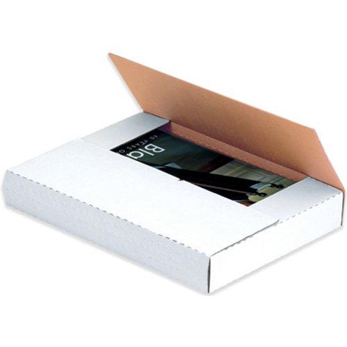 Aviditi-M1BK-Corrugated-Easy-Fold-Mailer-11-18-Length-x-8-58-Width-x-2-Height-White-Bundle-of-50-0