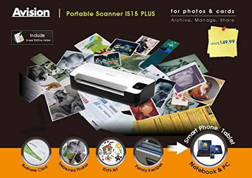 Avision-IS15-Portable-Scanner-for-Photos-Cards-w4GB-SD-Card-Scan-to-SD-or-USB-Drive-0-1