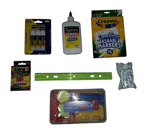 Back-to-School-Supply-Pack-Bundle-Elementary-Grade-1-Paper-Pens-Pencils-Crayons-Accessories-0-1
