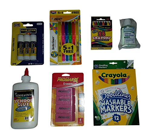 Back-to-School-Supply-Pack-Bundle-Elementary-Grade-2-Paper-Pens-Pencils-Crayons-Accessories-0-1