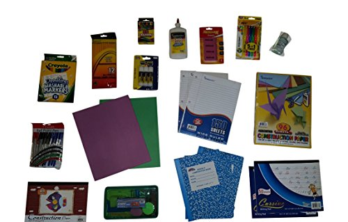 Back-to-School-Supply-Pack-Bundle-Elementary-Grade-2-Paper-Pens-Pencils-Crayons-Accessories-0