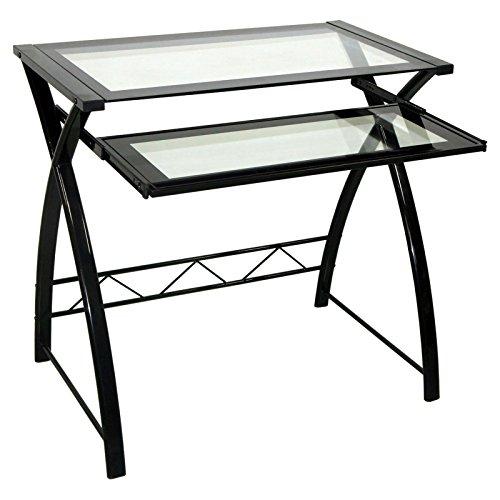 BellO-Glass-Top-Computer-Desk-High-Gloss-Black-0-0