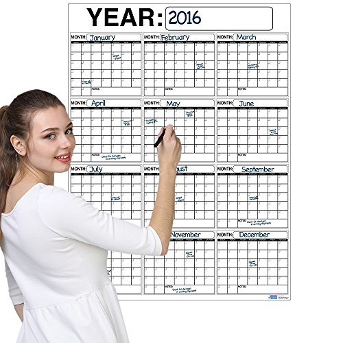 Best-OVERSIZED-12-MONTH-Dry-Erase-Wall-Calendar-Planner-Organizer-3-x-4-ft-Vertical-Laminated-Dry-or-Wet-Erase-to-Plan-Your-Whole-YEAR-Perfect-Sales-Planning-Office-Conference-Room-Teachers-0-0