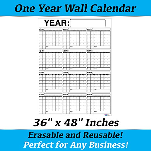 Best-OVERSIZED-12-MONTH-Dry-Erase-Wall-Calendar-Planner-Organizer-3-x-4-ft-Vertical-Laminated-Dry-or-Wet-Erase-to-Plan-Your-Whole-YEAR-Perfect-Sales-Planning-Office-Conference-Room-Teachers-0-1