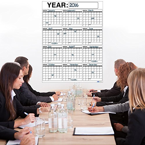 Best-OVERSIZED-12-MONTH-Dry-Erase-Wall-Calendar-Planner-Organizer-3-x-4-ft-Vertical-Laminated-Dry-or-Wet-Erase-to-Plan-Your-Whole-YEAR-Perfect-Sales-Planning-Office-Conference-Room-Teachers-0