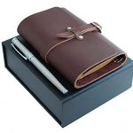 Best-Refillable-Leather-Notebook-Diary-in-Beautiful-Gift-Box-With-Free-Bonus-Matching-Fountain-Pen-by-NEVERMORE-0
