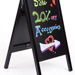 Black-A-Frame-Chalkboard-Sidewalk-Sign-with-Slide-out-18×26-Black-Boards-for-Easy-Updating-for-Wet-Erase-and-Traditional-Stick-Chalk-Wood-0-0