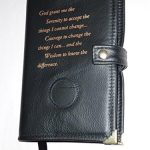 Black-Leather-AA-Alcoholics-Anonymous-Big-Book-Cover-Serenity-Prayer-and-Medallion-Holder-0