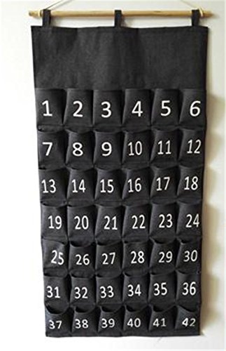 Black-Pocket-Charts-for-Classroom-Calculator-Pocket-Chart-Cell-Phone-Holder-for-School-Wooden-Chart-Holders-42-Pocktes-0-0