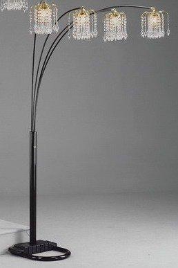 Black-Rain-Drop-Arc-Floor-Lamp-91H-by-Crown-Mark-0