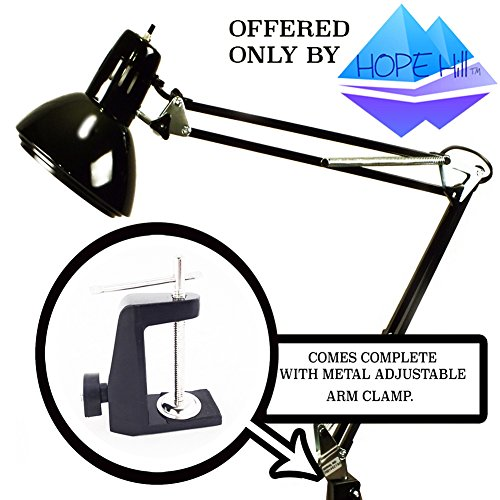 Black-Swing-Arm-Lamp-With-Metal-Clamp-Light-Drafting-Design-Architect-Artist-Table-Desk-Home-Office-Studio-0-0