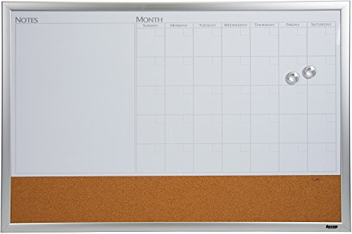 Dry Erase Calendar And Cork Board Combo : Dry erase boards office supply