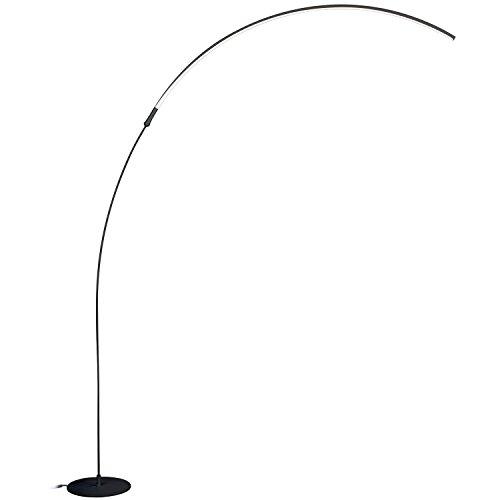 Brightech-Sparq-LED-Arc-Floor-Lamp-Curved-Contemporary-Minimalist-Lighting-Design-Warm-White-Light-0