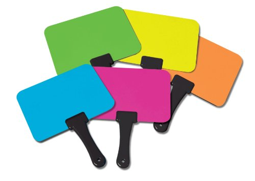 Briteboards-Dry-erase-Fluorescent-Response-Boards-with-mini-erasers-set-of-10-0-0