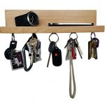 Brooklyn-Basix-Premium-Magnetic-Wood-Key-Ring-Holder-and-Shelf-for-Mail-Letter-Phone-Wallet-Sunglasses-Wall-Mounted-Organizer-Perfect-for-Mudroom-Entryway-Foyer-Kitchen-0-1