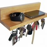 Brooklyn-Basix-Premium-Magnetic-Wood-Key-Ring-Holder-and-Shelf-for-Mail-Letter-Phone-Wallet-Sunglasses-Wall-Mounted-Organizer-Perfect-for-Mudroom-Entryway-Foyer-Kitchen-0
