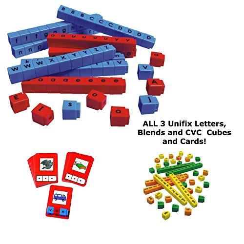 Bundle-of-Unifix-Letter-Cubes-Blend-Cubes-and-C-V-C-Words-Building-Cards-0-0