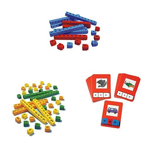 Bundle-of-Unifix-Letter-Cubes-Blend-Cubes-and-C-V-C-Words-Building-Cards-0