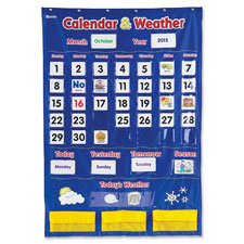 CalendarWeather-Pocket-Chart-30-34×44-14-Multi-Sold-as-1-Each-138-Each-per-Each-0