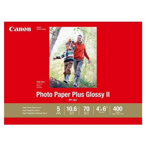CanonInk-Photo-Paper-Plus-Glossy-II-4-x-6-400-Sheets-PP-301-4X6400-0