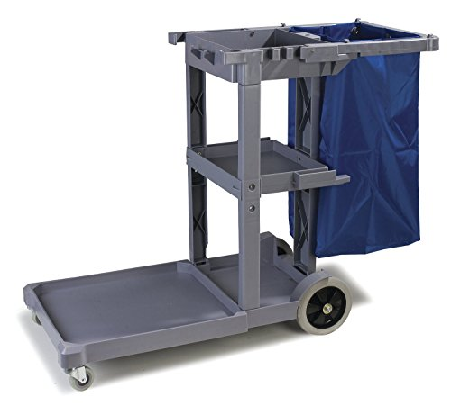 Carlisle-Polyethylene-Short-Platform-Janitorial-Cart-300-lbs-Capacity-0