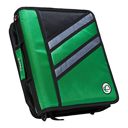 Case-it-Z-Binder-Two-in-One-15-Inch-D-Ring-Zipper-Binders-Green-Z-176-GRE-0