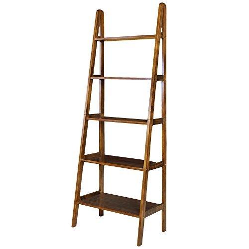 Casual-Home-176-51-5-Shelf-Ladder-Bookcase-0