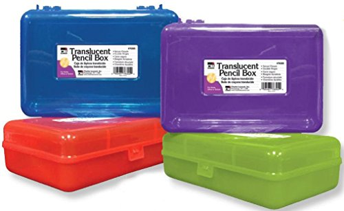 Charles-Leonard-Pencil-Box-2-12-H-x-5-14-D-x-8-14-W-Inches-Assorted-Colors-24-Pack-76305-0