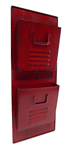 Cheungs-Rattan-FP-3198R-Wall-Locker-Metal-Mail-Holder-Red-0