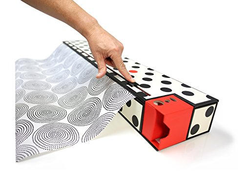 ChicWrap-30-Gift-Wrap-Dispenser-and-Storage-Box-with-Slide-Cutter-and-2-Rolls-of-GiftWrap-Dots-0