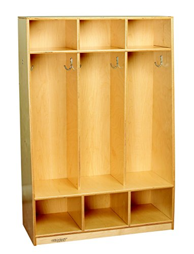 Childcraft-1403214-Bench-Coat-Locker-3-Unit-Wood-32-12-x-13-34-x-48-Natural-Wood-Tone-0