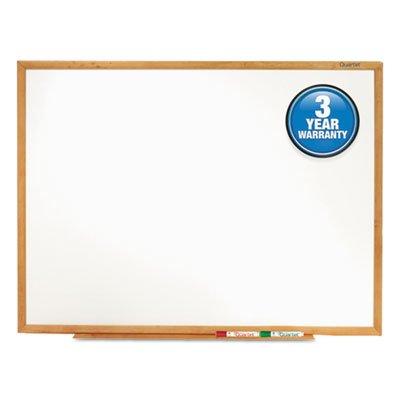 Classic-Melamine-Whiteboard-96-x-48-Oak-Finish-Frame-Sold-as-1-Each-0-0