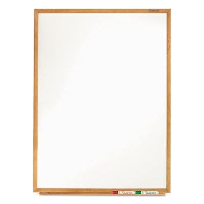Classic-Melamine-Whiteboard-96-x-48-Oak-Finish-Frame-Sold-as-1-Each-0-1