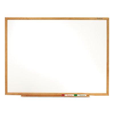 Classic-Melamine-Whiteboard-96-x-48-Oak-Finish-Frame-Sold-as-1-Each-0