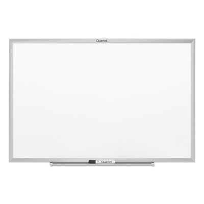 Classic-Melamine-Whiteboard-96-x-48-Silver-Aluminum-Frame-Sold-as-1-Each-0