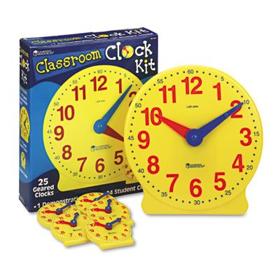 Classroom-Clock-Kit-Learning-Clock-for-Grades-Pre-K-4-Sold-as-1-Set-25-Each-per-Set-0