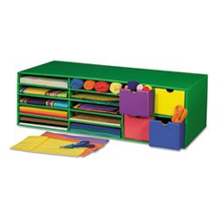 Classroom-Keepers-Crafts-Keeper-Organizer-Green-14-Sections-9-38x30x12-12-0