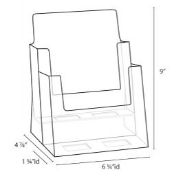 Clear-Ad-LHF-S112-Acrylic-2-Tier-Brochure-Holder-0-0