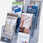 Clear-Ad-LHF-S83-Acrylic-3-Tier-Brochure-Holder-Organizer-Table-Top-or-Wall-Mount-85-x-11-0-1