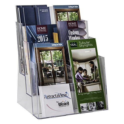Clear-Ad-LHF-S83-Acrylic-3-Tier-Brochure-Holder-Organizer-Table-Top-or-Wall-Mount-85-x-11-0