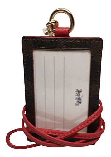 Coach-Signature-Brown-Red-Lanyard-ID-Badge-Card-Holder-63274-0-0