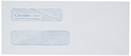 Columbian-White-Gummed-3-58-x-8-58-Inch-Double-Window-Business-Envelopes-500-Count-0