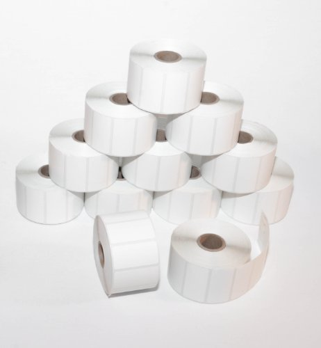 CompuLabel-Direct-Thermal-Labels-2-Inch-x-1-Inch-White-Roll-Permanent-Adhesive-Perforations-Between-Labels-1300-per-Roll-12-Rolls-per-Carton-530550-0-0