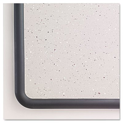 Contour-Granite-Gray-Tack-Board-36-x-24-Black-Frame-Sold-as-1-Each-0-0