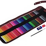 CraftyPix-48-Colored-Pencils-for-Adults-with-Case-Premium-Watercolor-Pencils-for-Adult-Coloring-Books-The-Set-Comes-with-48-Artist-Grade-Pencils-Canvas-Case-Brush-Sharpener-Eraser-0
